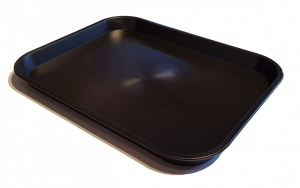 KB2 Plastic Catering Tray - Black (Repro)