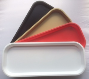 KB6 Colours Plastic Catering Trays Set Of 4
