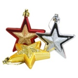 Pack of 6 Christmas Stars