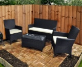 Outdoor Rattan Sofa and Chairs Set FSR DS