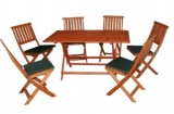 Concord 7 Piece Folding Garden Furniture Set FSWSET4 DS